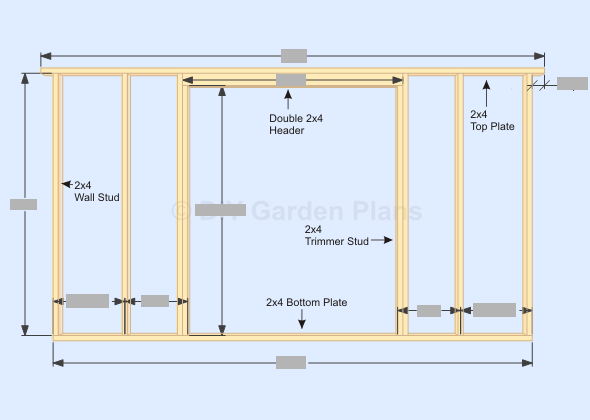 GambrelBarn Shed Plans Front Wall Frame Shed Plans Pinterest