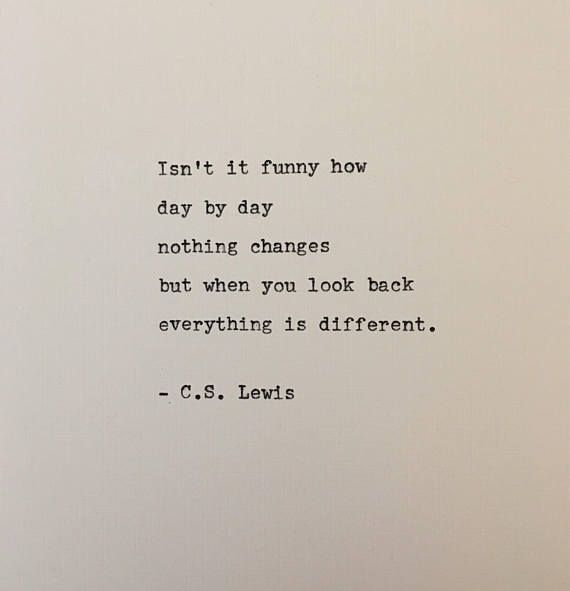 Photo of Quote from C. S. Lewis written on typewriter – unique gift