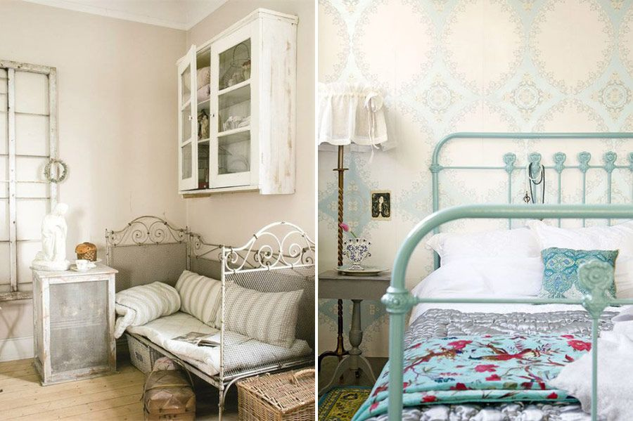 Hand paint your bed to match your room | Cottage | Pinterest ...