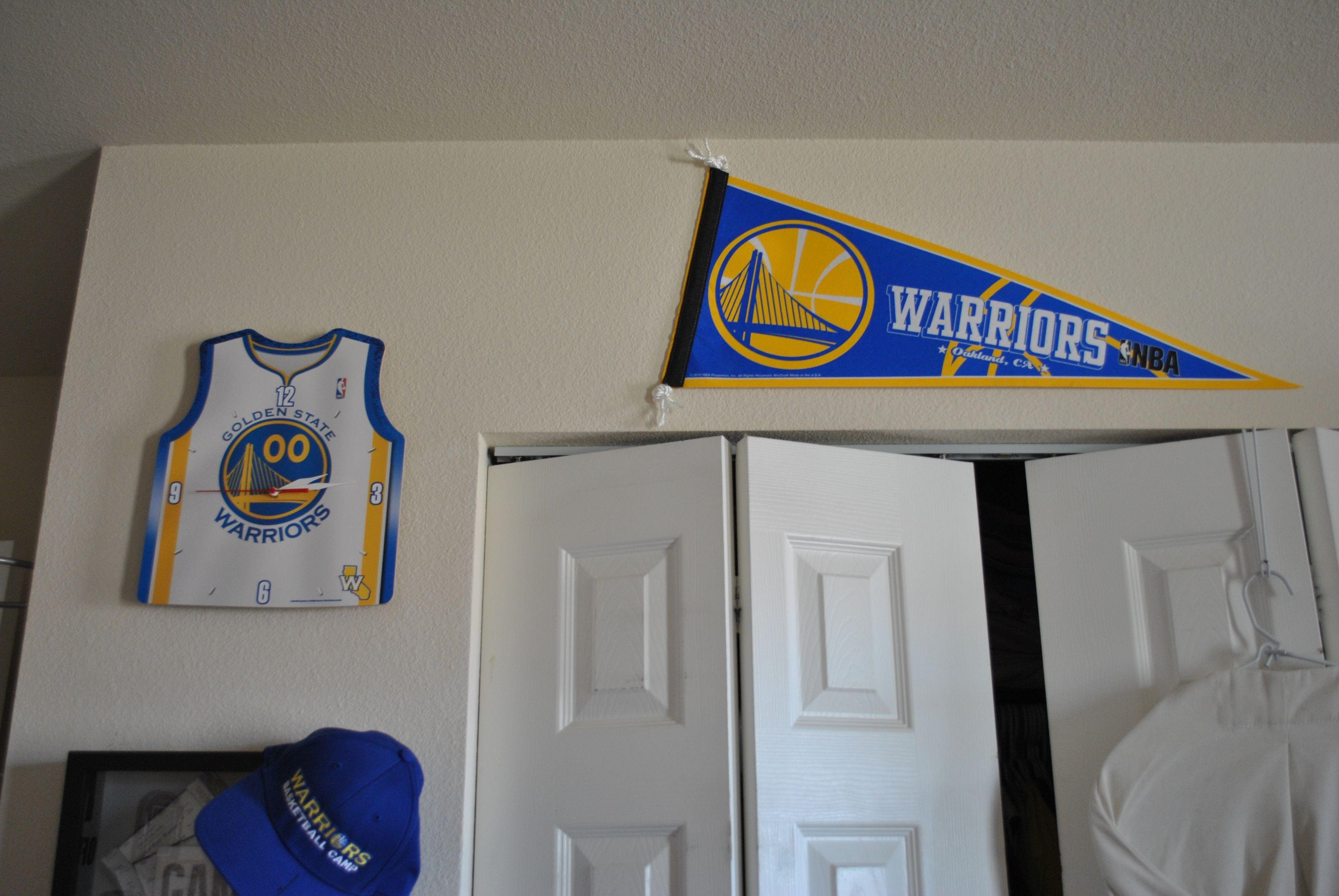 Golden State Warriors Bedroom Clock Golden State Warriors Bedroom Golden State Warriors Basketball Bedroom