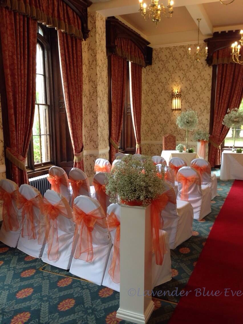 vibrant orange wedding at rowton castle | rowton castle hotel