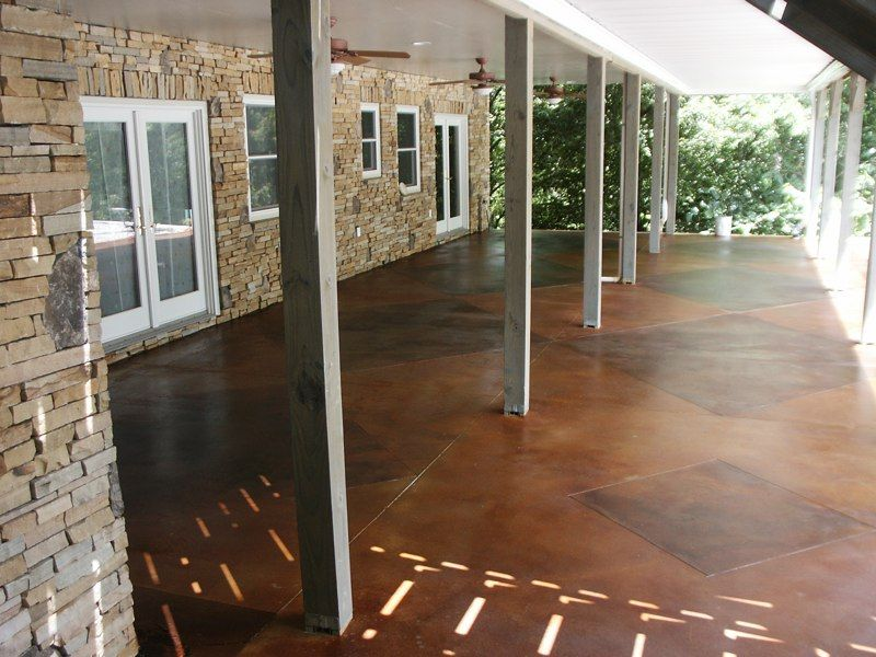 Instead Of Building A Deck, You Can Stain Your Concrete Patio For A Low  Price