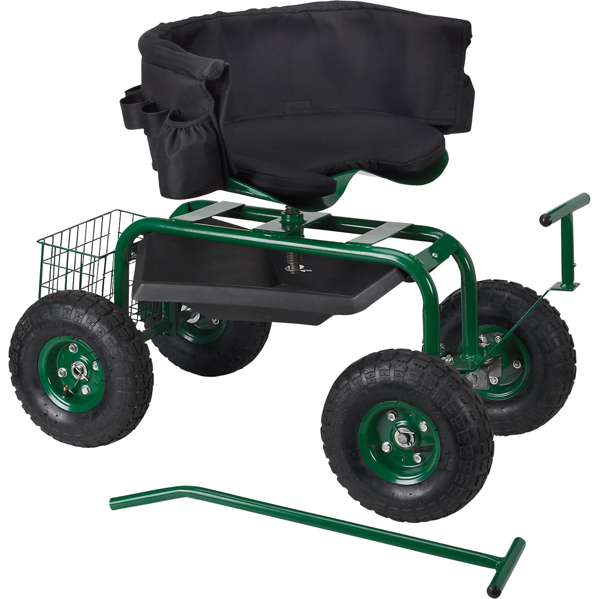 Lavish Home Pure Garden Polyurethane Wheeled Rolling Garden Work Scooter With Tool Tray Hw155003 The Home Depot In 2020 Garden Scooters Pure Garden Garden Cart