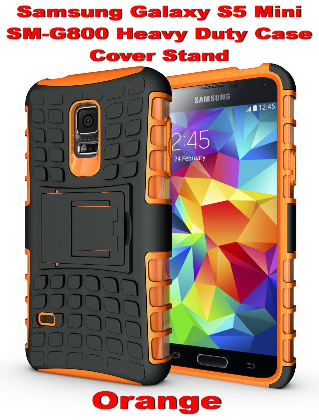 new product 8ffc8 999ed $12.9 AUD - Orange Samsung Galaxy S5 Mini G800 Strong Heavy Duty ...