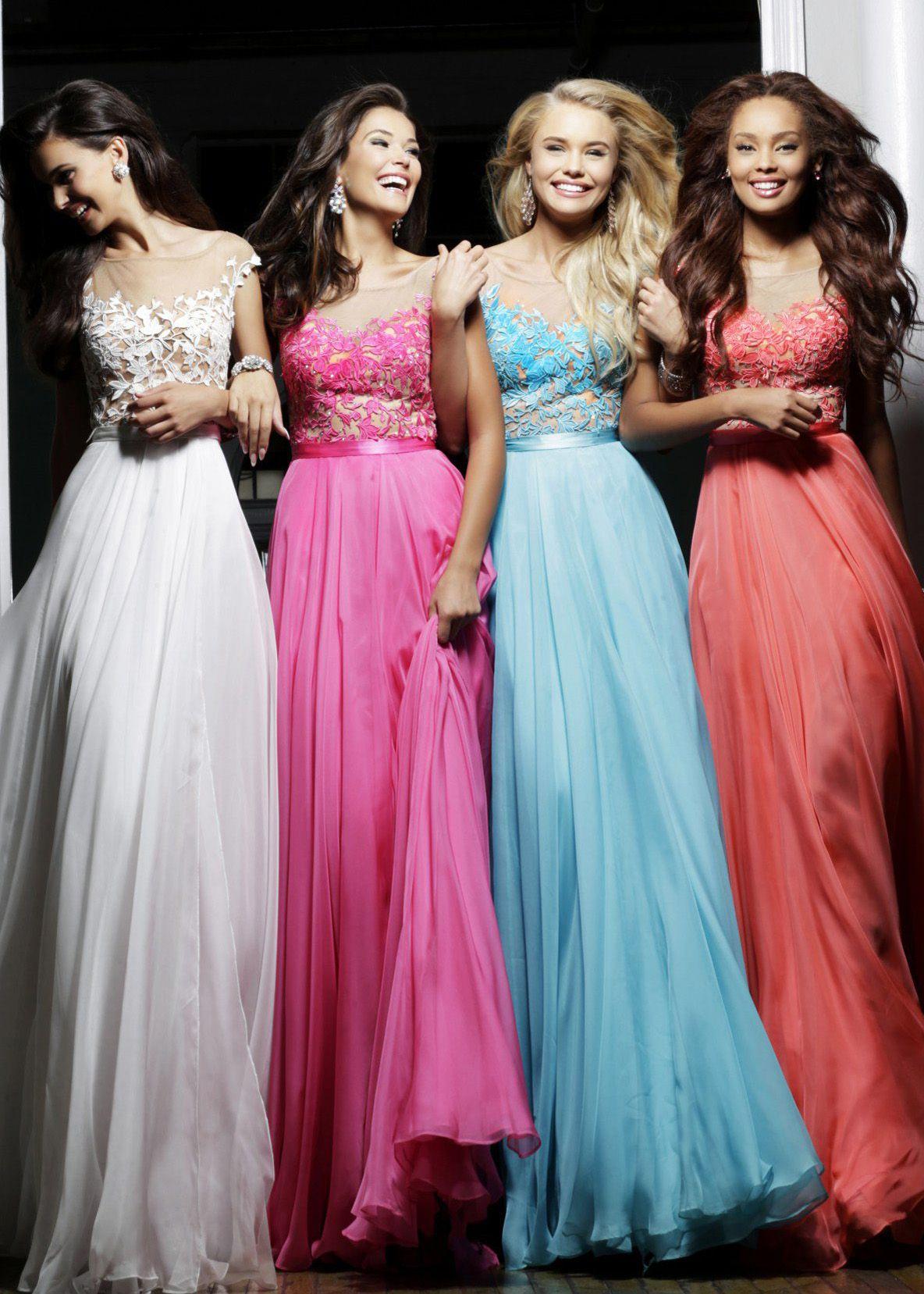 Sherri Hill 11151 -Embroidered Lace Chiffon Prom Dresses Online ...