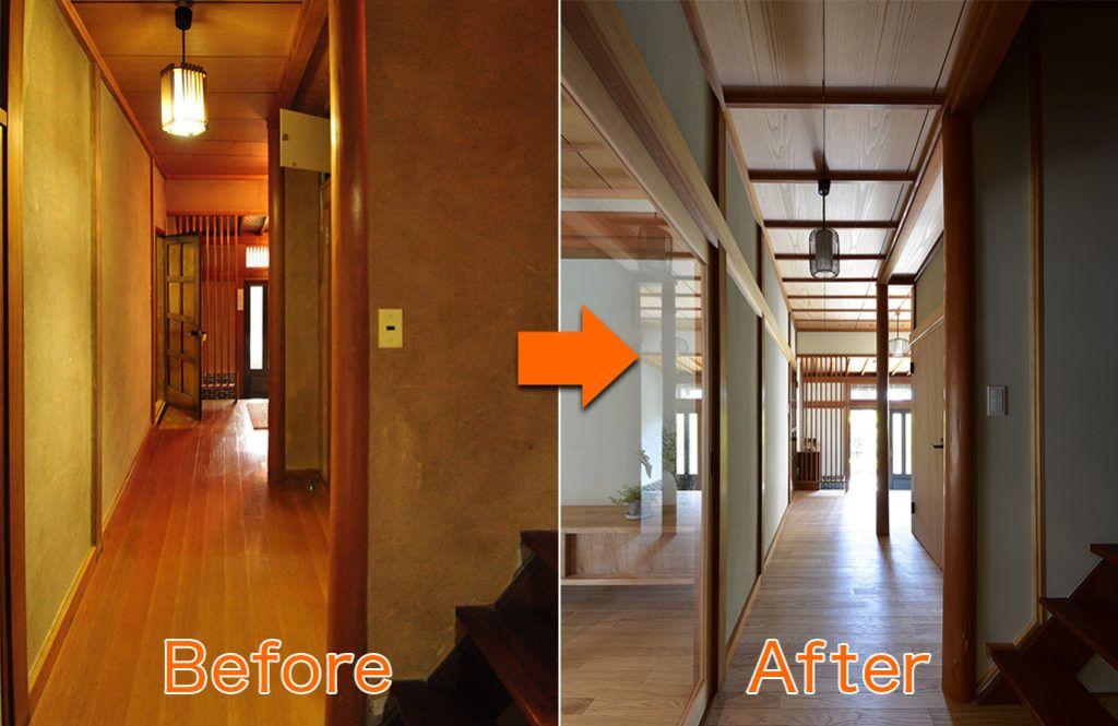 築40年以上の古民家再生 日本家屋の良さを残す温故知新リノベ リノベーション 古民家 日本家屋
