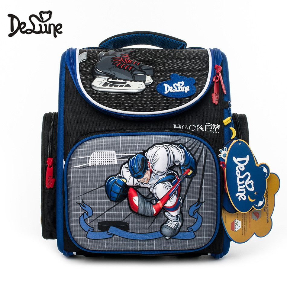 c366a6abe24f 2018 Famous Brand Delune Kids Boys Fashion 3D Cartoon School Bags Russian  Style Grade 1-3 Children Orthopedic School Backpacks Review