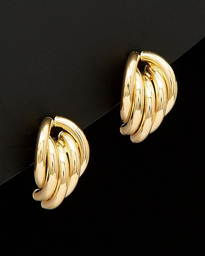 18k Italian Gold Hoop Earrings