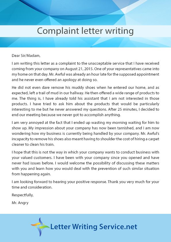 letterwritingservicenet offers the Complaint Letter Writing - complaint letter