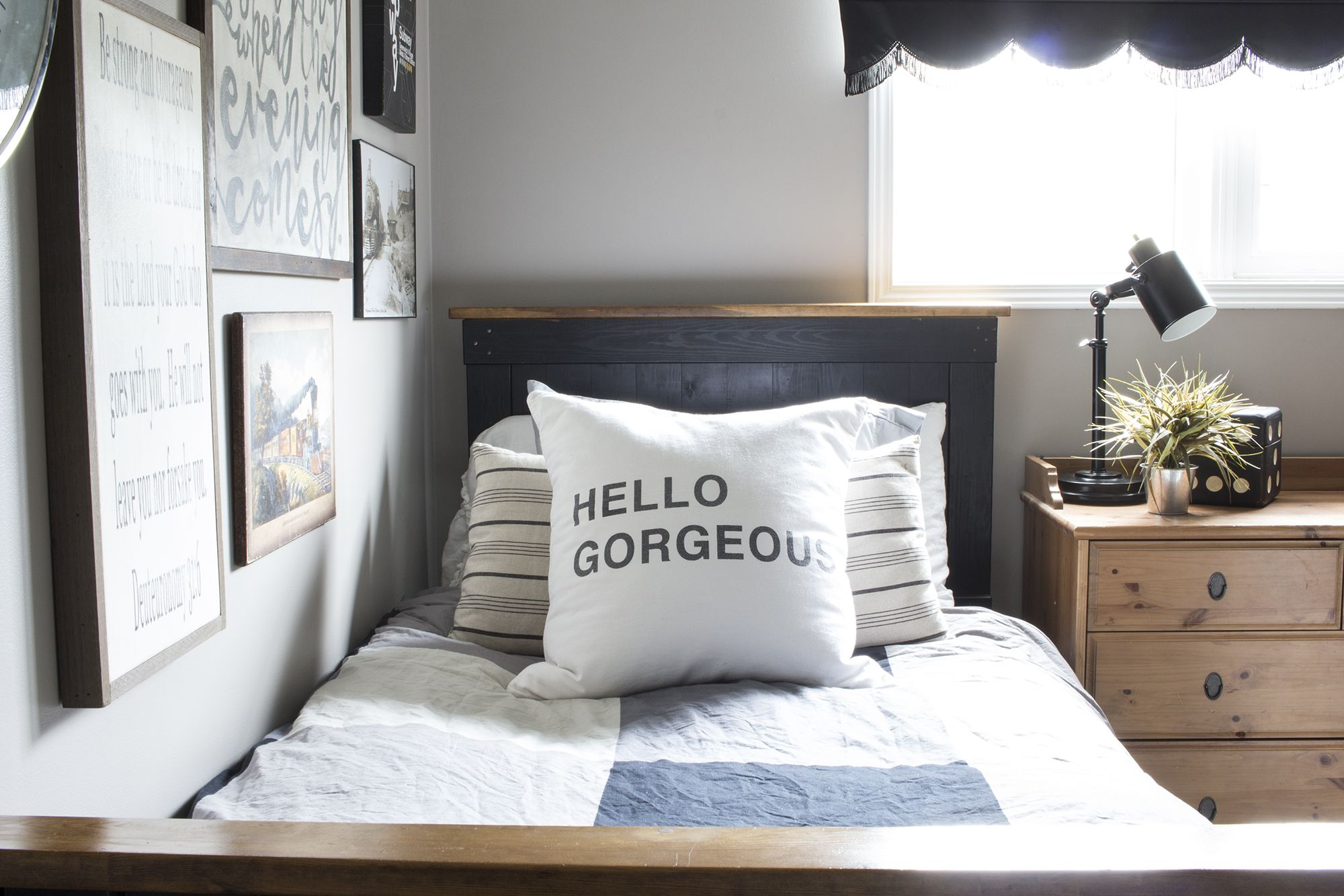 A Rustic Industrial Bedroom For a Teenage Boy - and Teaching Him How ...
