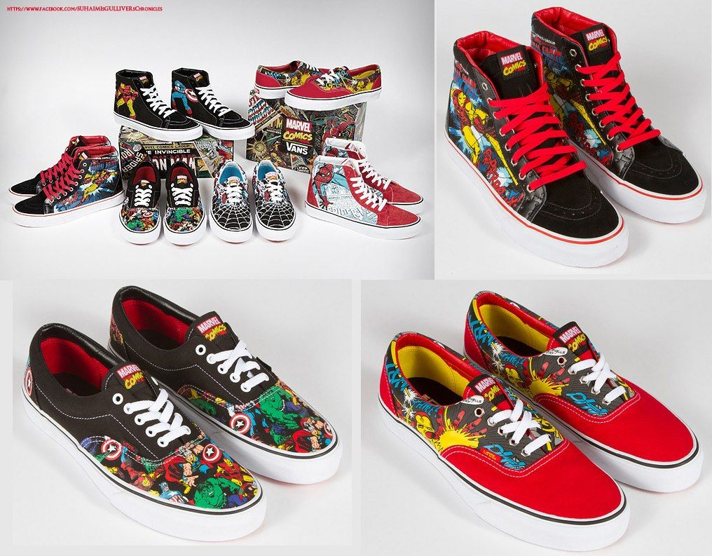 a6b5b9d32ba Vans x Marvel   love the avengers sk-8 his...but where are the wolverine  Eras !