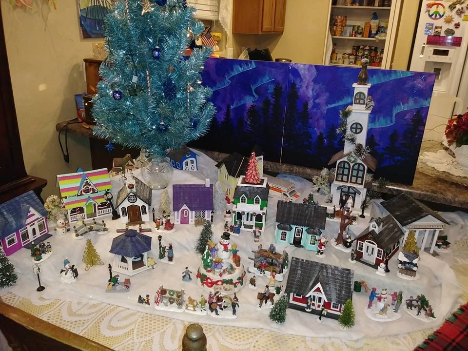 Christmas Village 2017...2 of 3 Greenleaf village sets