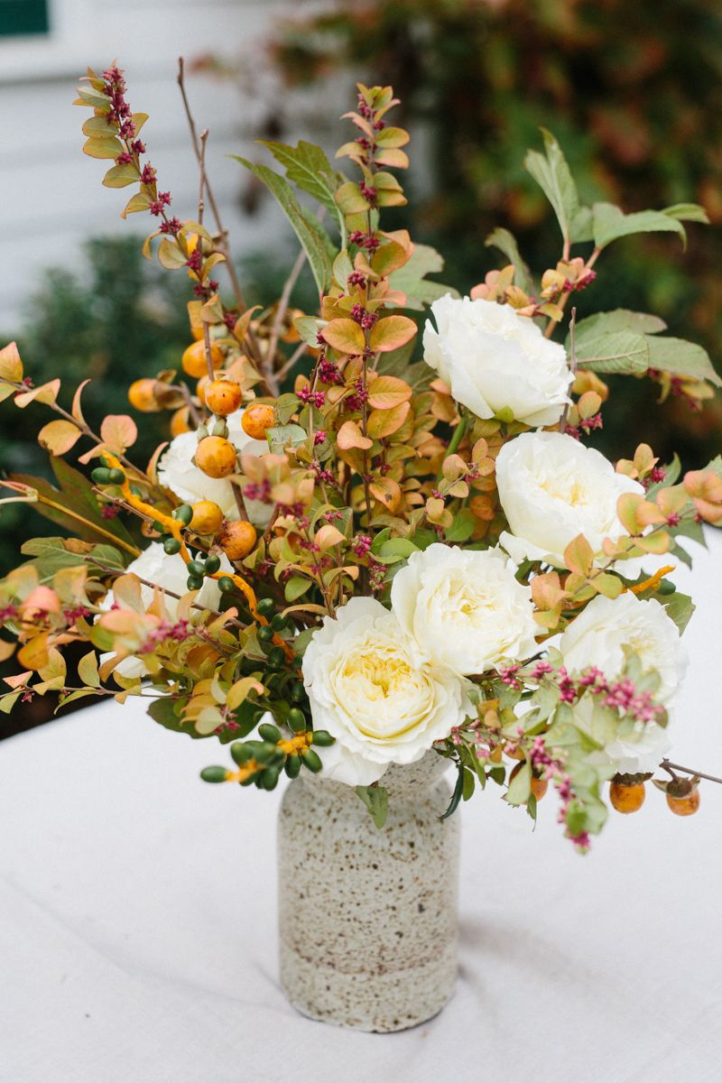 A Rustic Garden Rose Arrangement by Yasmine Mei | Rustic gardens and ...