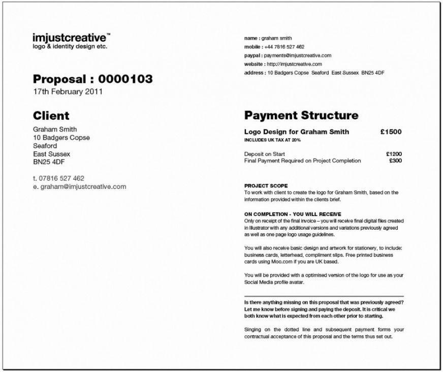 Logo Design Bid Proposal Template Web Design Proposal Proposal Templates Logo Design