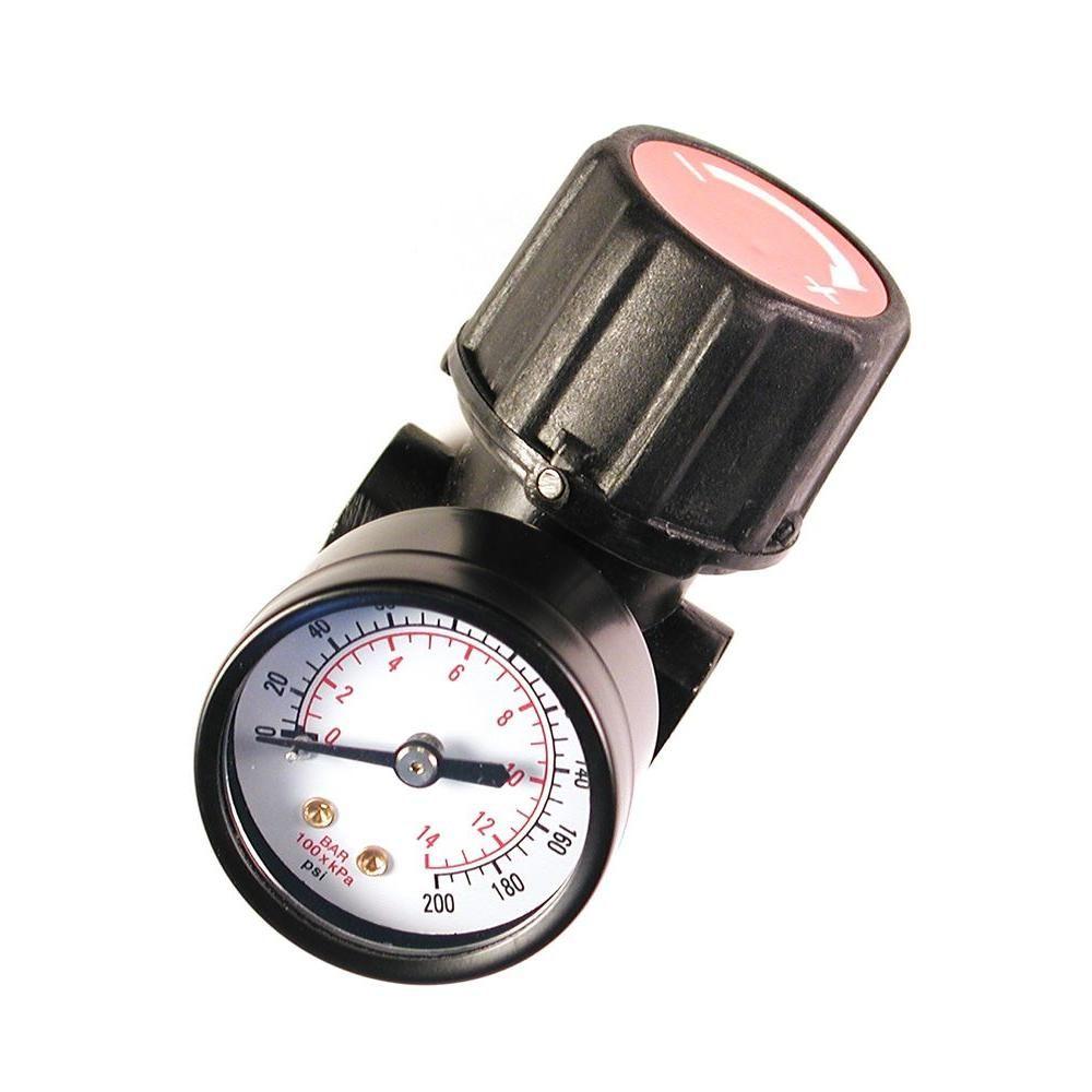 Primefit 1 4 In Npt Replacement Air Regulator With Steel Protected Gauge Air Compressor Regulator Air Tools Ceramic Brake Pads
