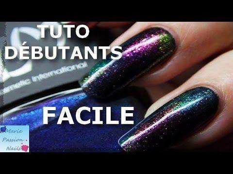 Tuto Nail Art: Aurore Boréale Facile - YouTube