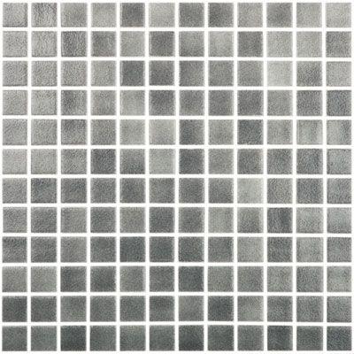Fog Dark Grey 515 Vidrepur Glass Mosaic Tile 25mm 1 1 Sheet V 515 5 45 Glass Tile Glass Mosaic Tiles Mosaic Tiles