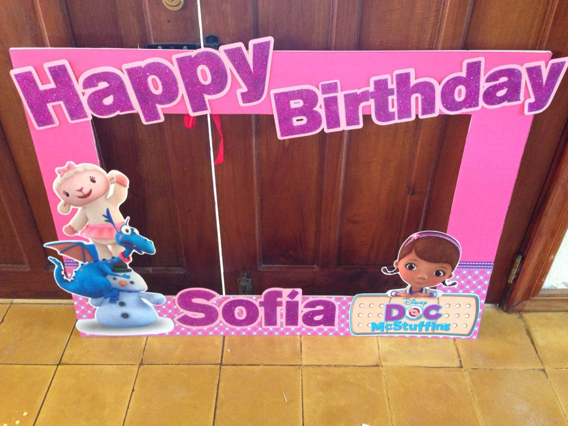 Doc Mcstuffins Photo Frame Birthday Party Ideas 3rd