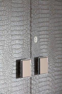 Luxurious Crocodile Leather Feel For Wardrobe Veneer Crocodile