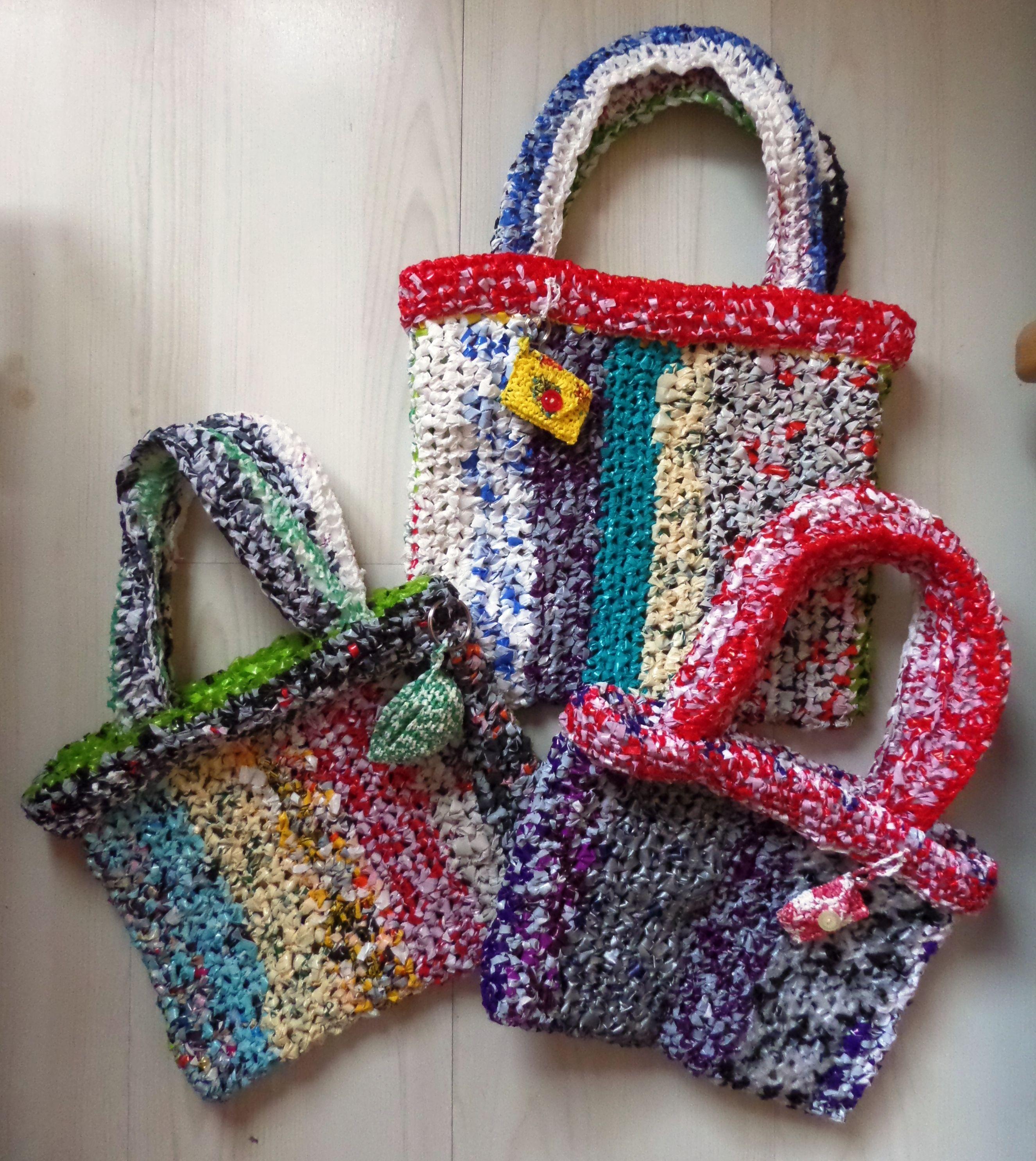 Tasjes Gehaakt Van Plastic Even Recycling TassenWel Een 2DWEIH9Y