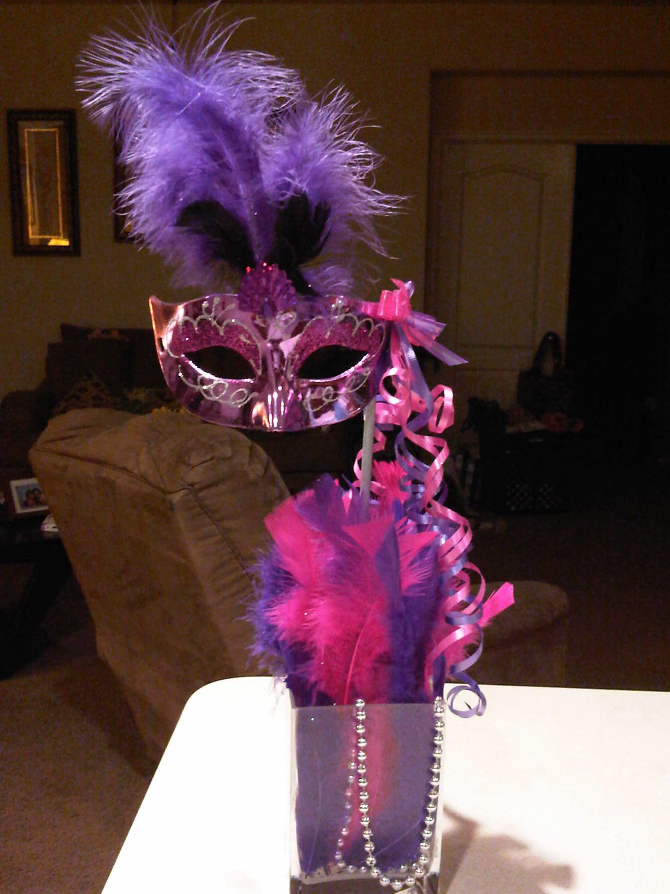 Masquerade Mask Table Decorations Impressive Tall Mask Centerpiece  Centerpieces  Pinterest  Masquerade Decorating Design