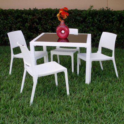 32++ White resin patio dining sets Inspiration