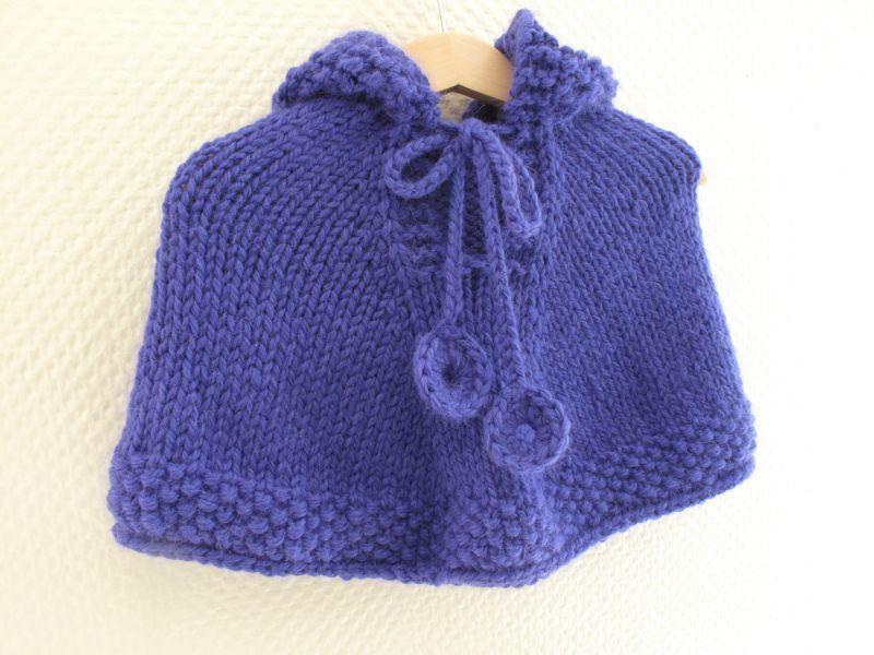 comment tricoter une cape pour bebe