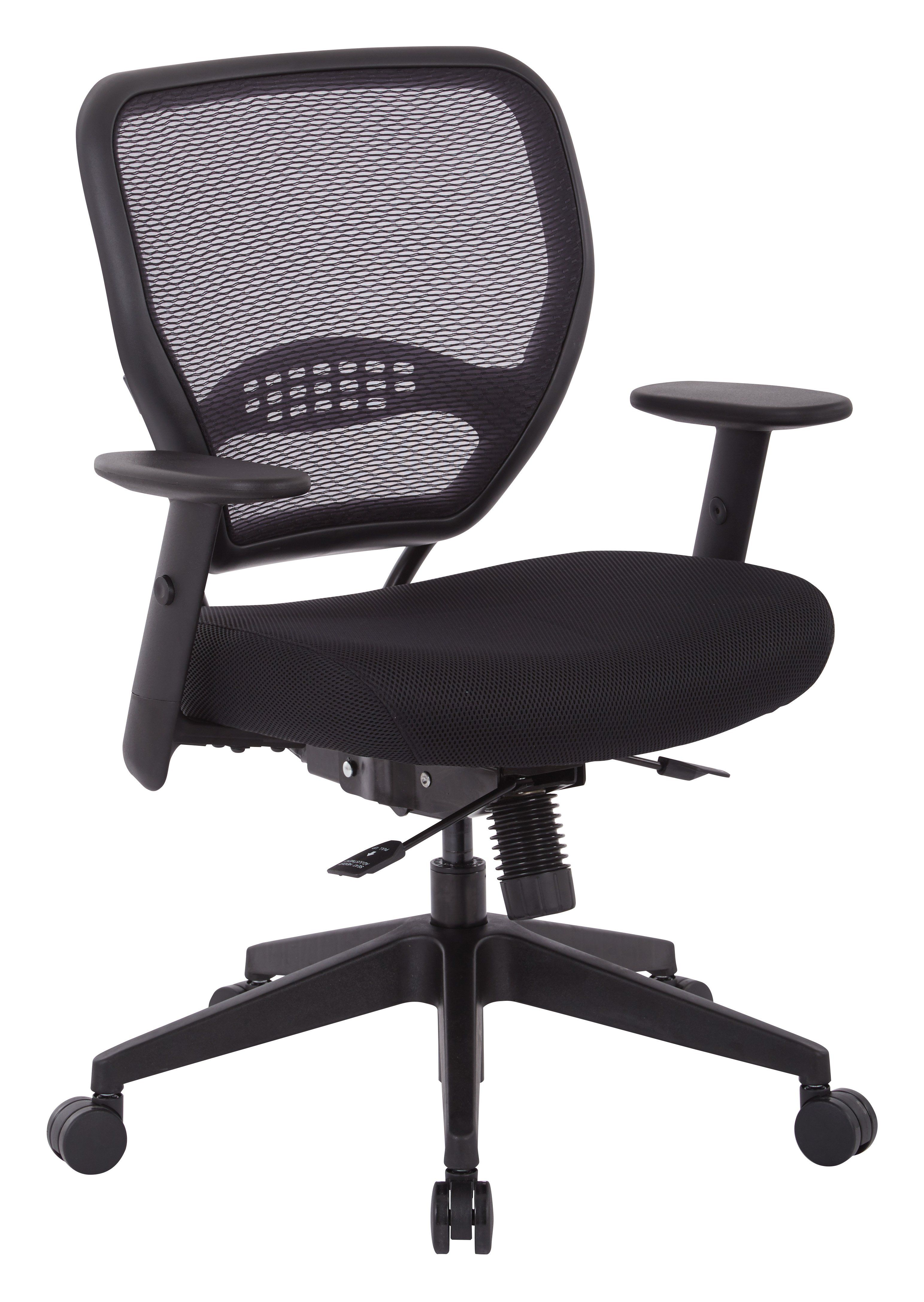 Office Star Black Air Grid And Mesh Office Chair