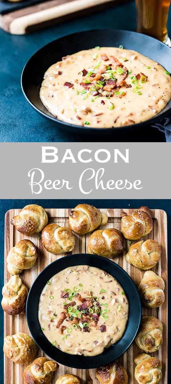 Bacon beer cheese dip takes your classic pub style beer cheese to the next level. With sharp chedda