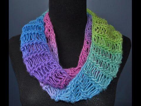 Loom Knit Flat Panel Garter Row Slip Stitch Edge Youtube Loom