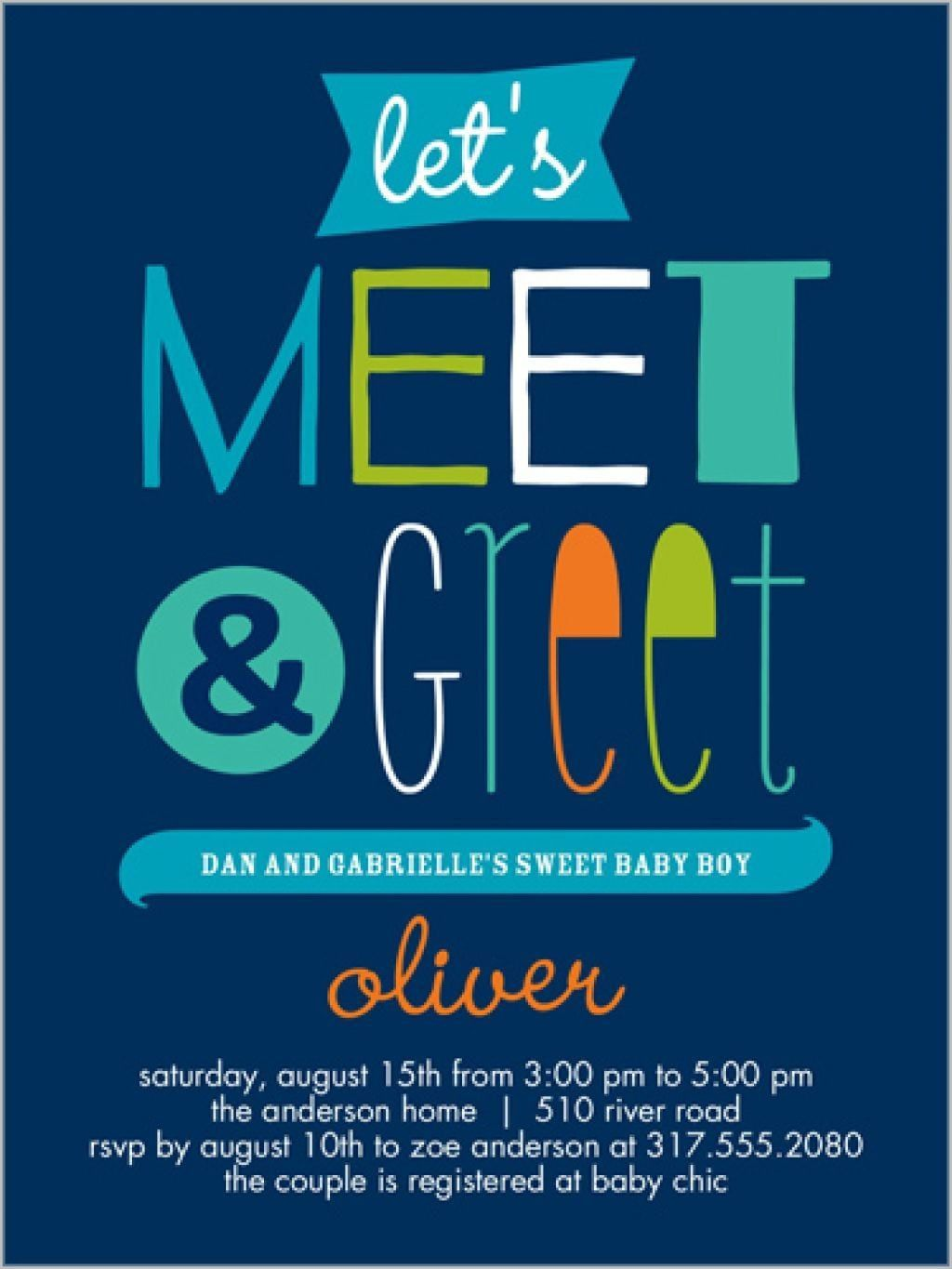 Meet And Greet Invitation   Welcome baby party, Baby shower invitation  cards, Baby shower invitations