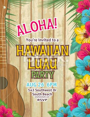 Aloha hawaiian party invitation the invitation has a brown aloha hawaiian party invitation royalty free stock vector art illustration stopboris Gallery