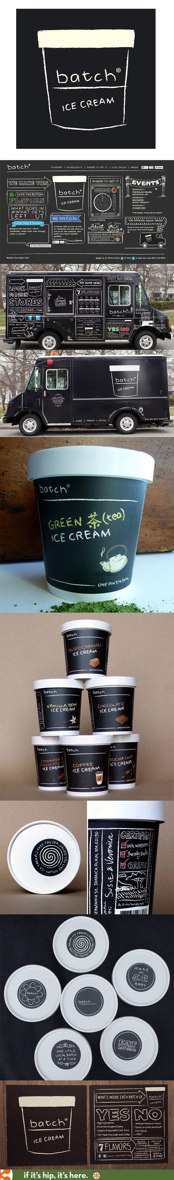 Branding Mobile Truck Packaging And Web Design For Batch Ice Cream Branding Packaging Design Corporate Design