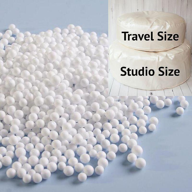 White Foam Beanbag Baby Filler Bed Sleeping Bean Bags Chair Newborn Sofa Polystyrene Styrofoam