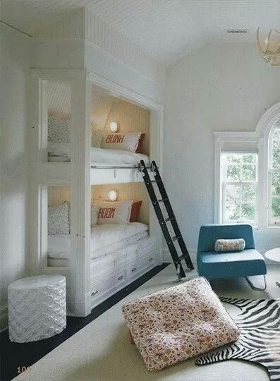 Build in the wall bunk beds