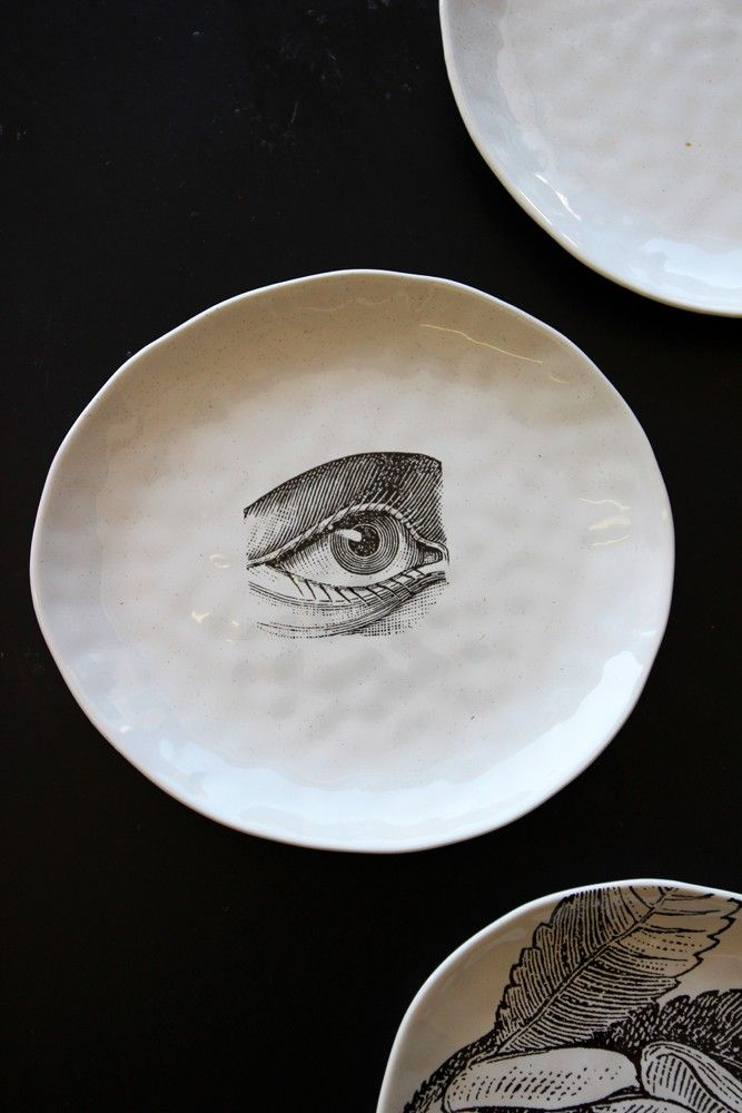 Handmade Ceramic Plate - Eye - Tableware - Kitchen : kitchen and tableware - pezcame.com