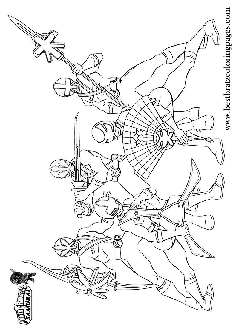 printable power rangers samurai coloring pages for kids bratz coloring pages