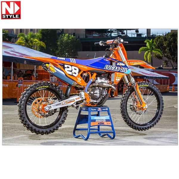 HONDA CR CRF 125 250 450 LOWER FORK DECAL MOTOCROSS GRAPHICS MX TEAM ISSUE BLUE