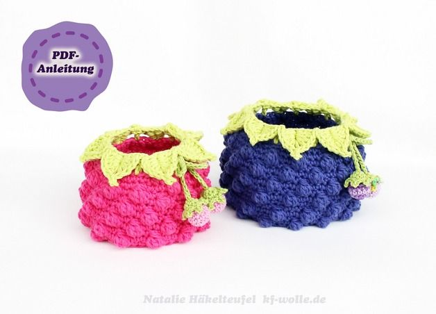 Häkelanleitung Für Ein Himbeer Und Brombeerkörbchen Diy Crochet