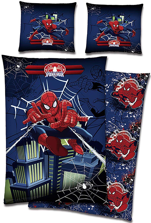 Biber Kinder Bettwäsche Spider Man A New Universe Rot Blau 135 X 200 Cm 80 X 80 Cm 100 Baumwolle In Flanell Ultimate Spid Marvel Comics Marvel Spiderman