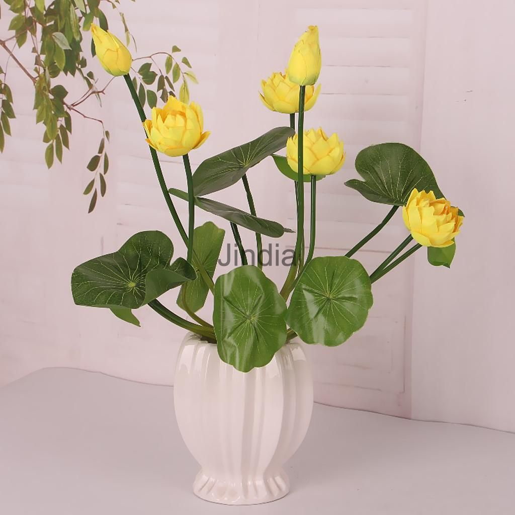 Cm artificial silk flowers water lily spray plant floral home