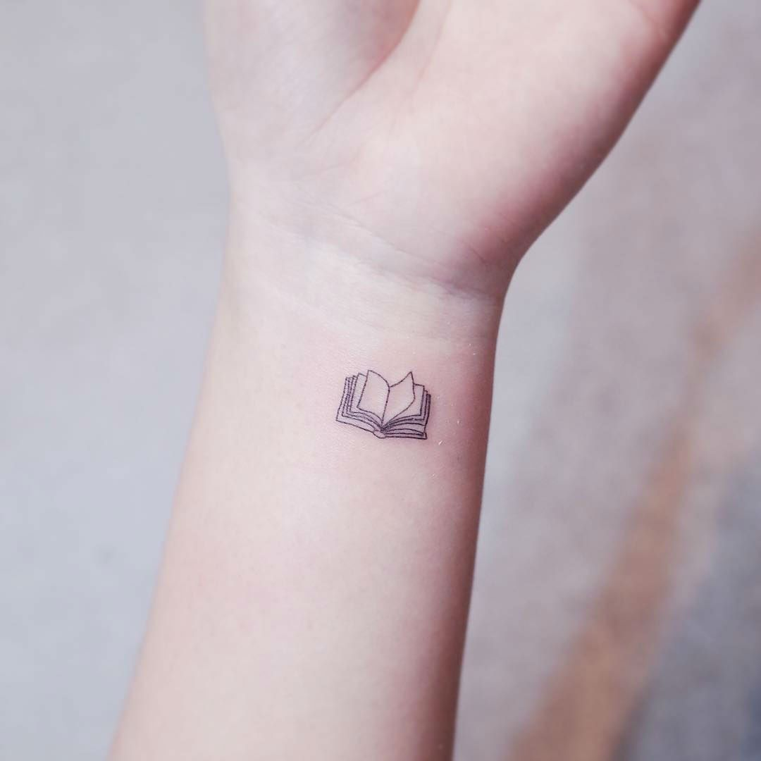 20 Exceptional Book Tattoo Ideas Tiny Tattoos Mini Tattoos Bookish Tattoos