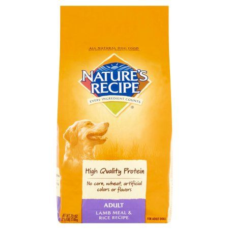 Nature S Recipe Every Ingredient Counts Adult Lamb Meal Rice