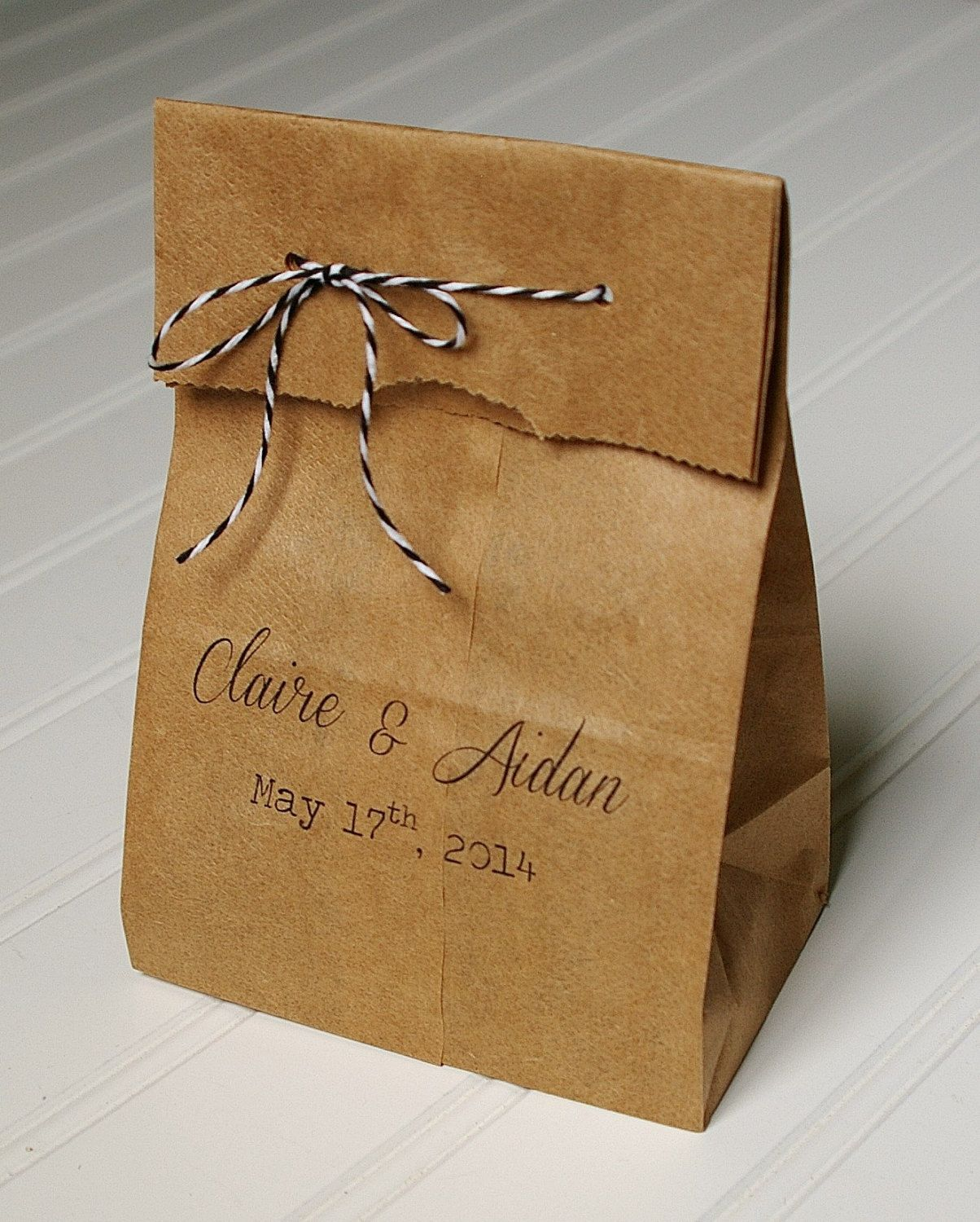 Personalized Wedding Favor Bags Rustic Paper By Annalouavenue 65 00