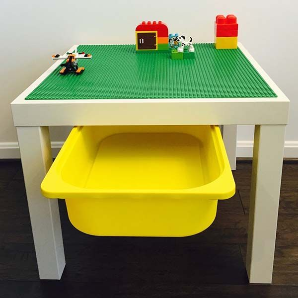 The Handmade LEGO Table with Storage Bin Unleashes Your Children's ...