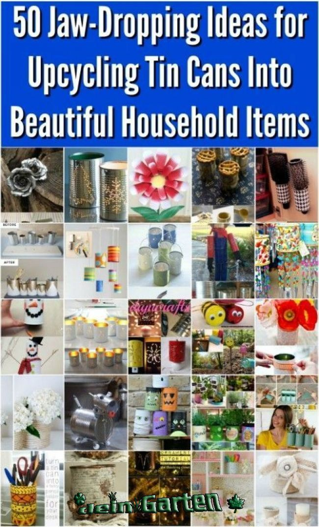 50 superbes idées pour recycler les boîtes de conserve / #boites #conserve #Idées #les #pour #recycler #superbes