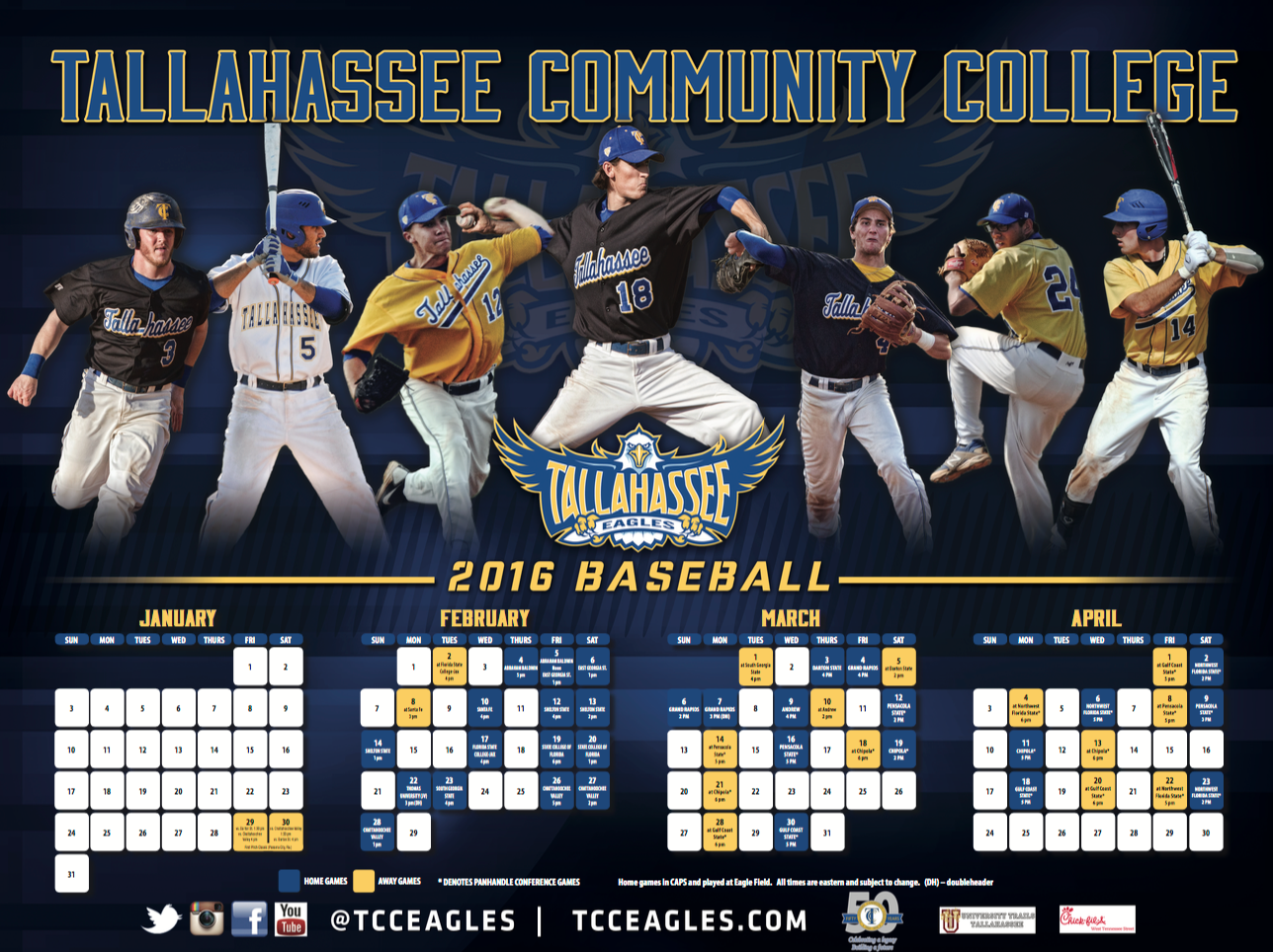 Tallahassee Community College Baseball Poster Tallahassee Community College Baseball Posters Community College