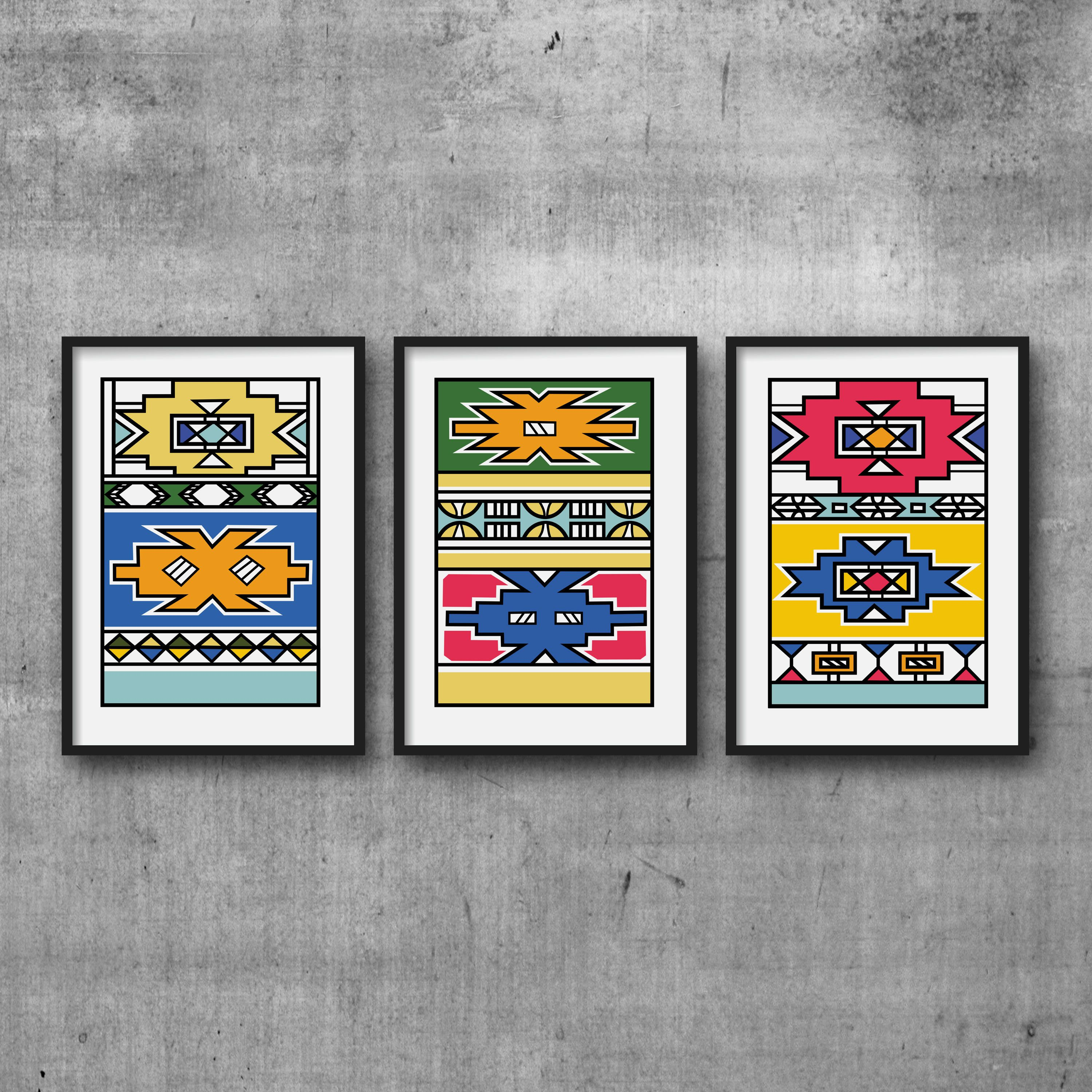 African Home Decor By 3rd Culture: African Print In A Geometric African Pattern From The
