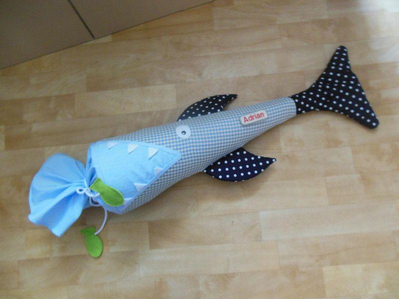 hai schultte rohling stoff zuckertte fisch - Hai Kissen Muster