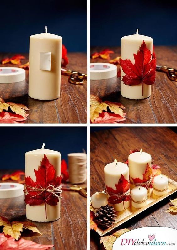 Make fall decorations yourself - 15 DIY ideas for the third season